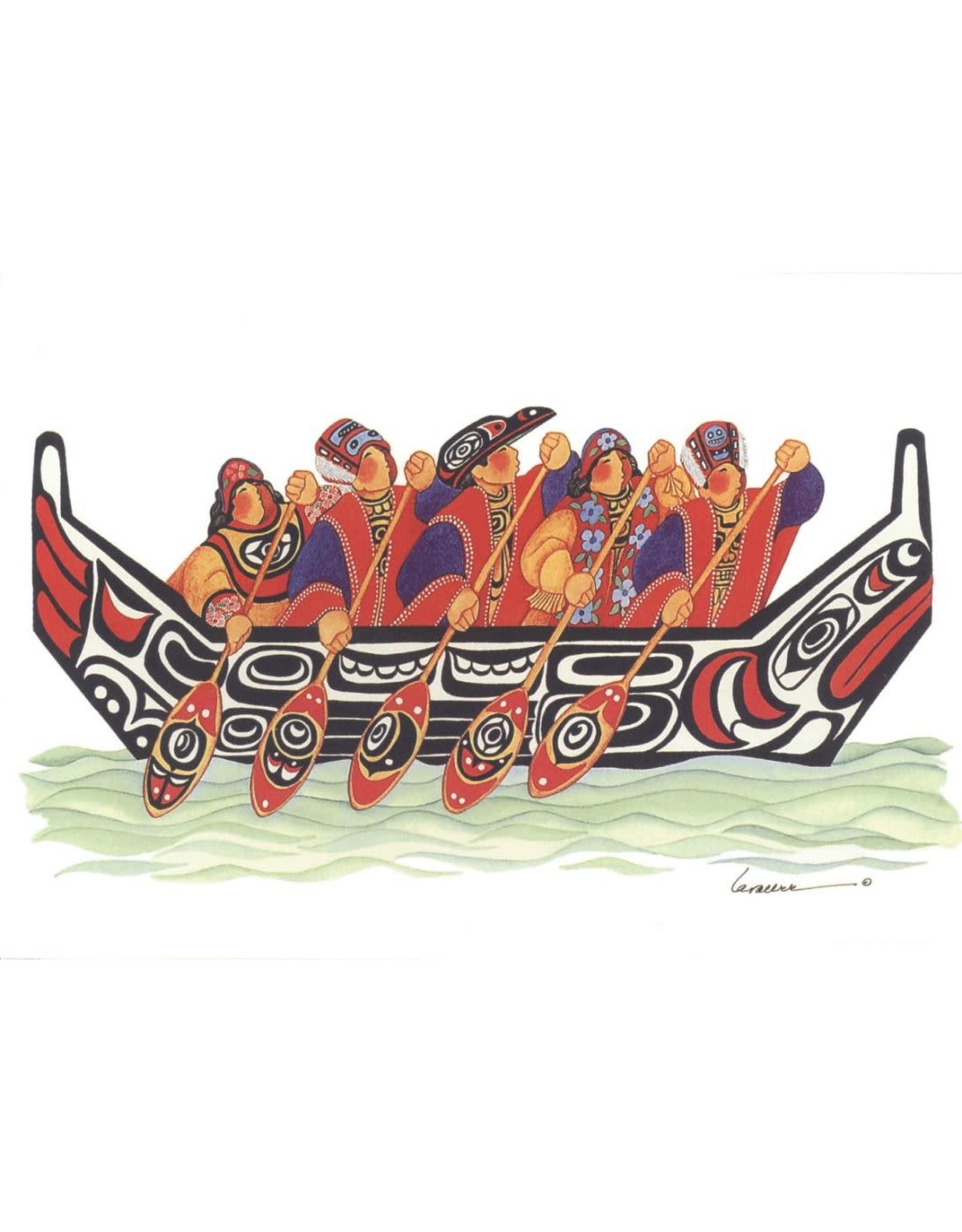 Barbara Lavallee Tlingit Canoe (art card) | Barbara Lavallee
