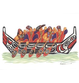 """Barbara Lavallee Barbara Lavallee """"Tlingit Canoe"""" Art Card"""