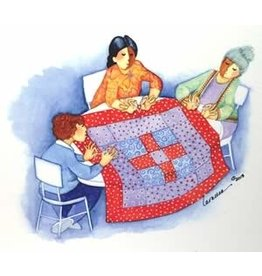 Barbara Lavallee Tying a Quilt