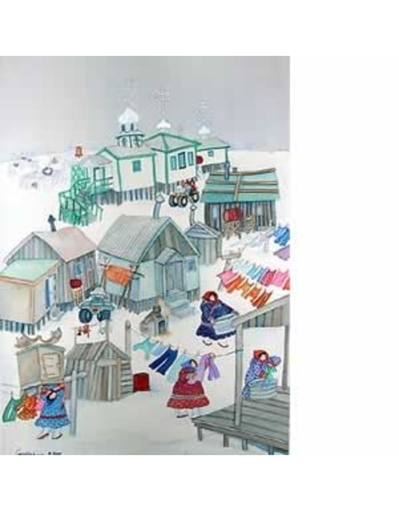 "Barbara Lavallee Barbara Lavallee ""Village Monday"" art print"