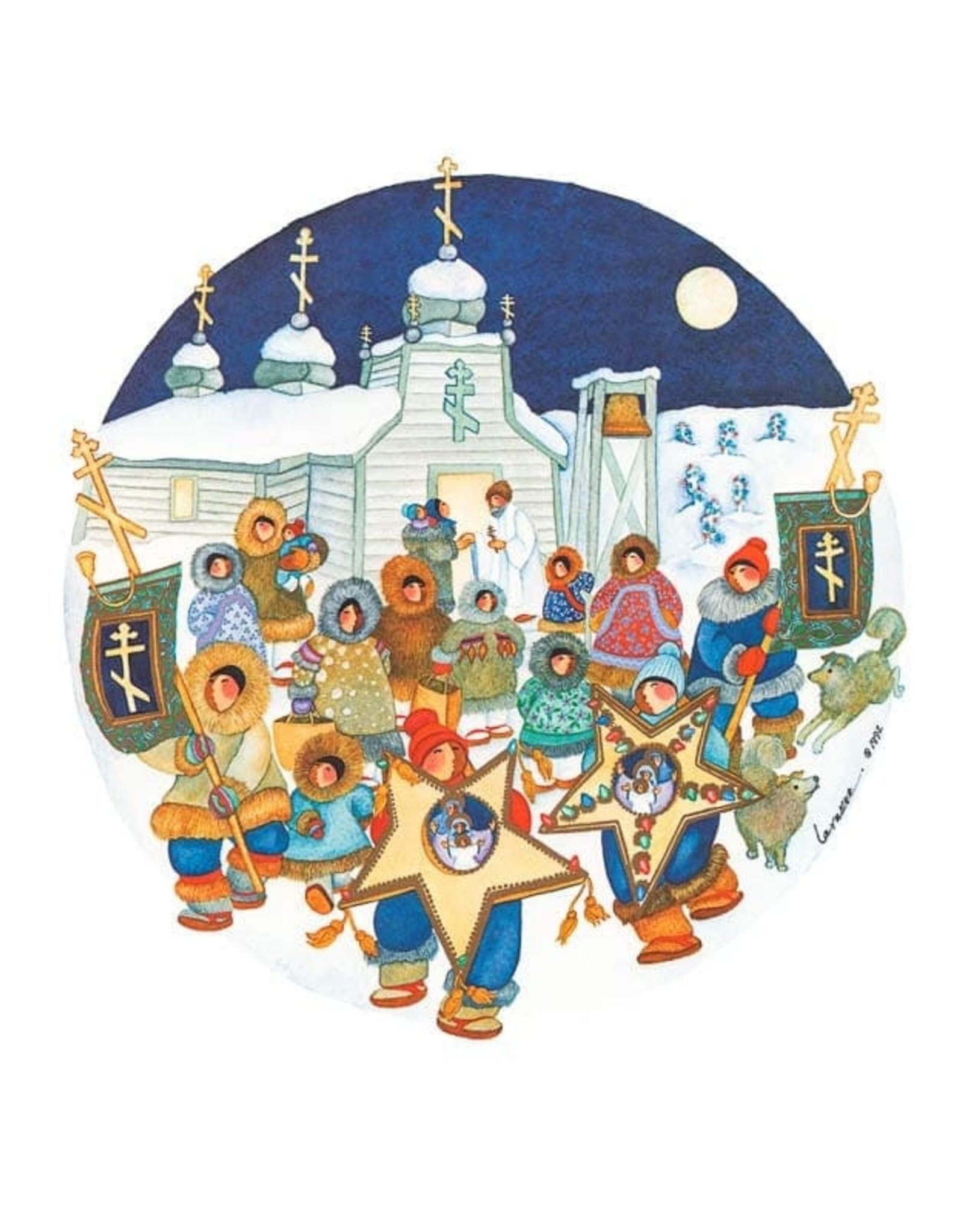 Barbara Lavallee Village Traditions (art card) | Barbara Lavallee