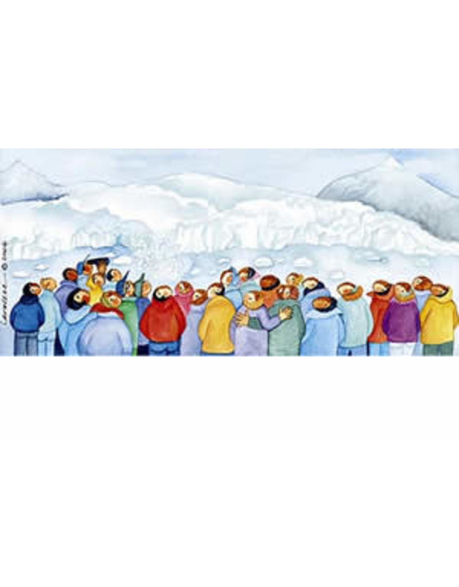 "Barbara Lavallee Barbara Lavallee ""Watching Ice Melt"" art print"