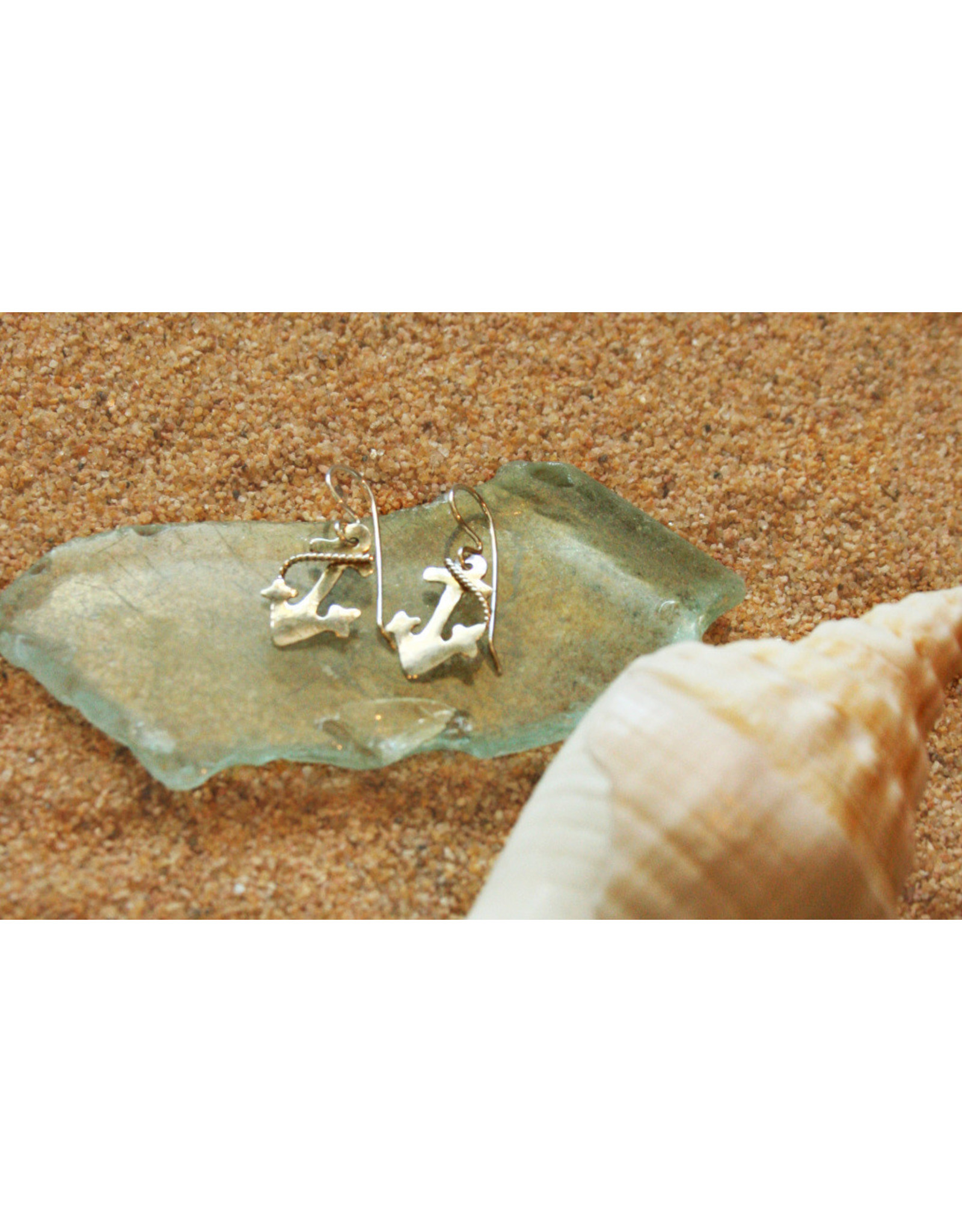 Water's Edge Studio Water's Edge Earrings Anchor Silver