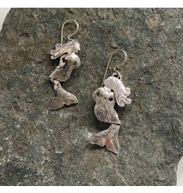 Water's Edge Studio Water's Edge Earrings Mermaid Silver