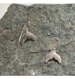 Water's Edge Studio Water's Edge Earrings Whale Tail Tattooed small