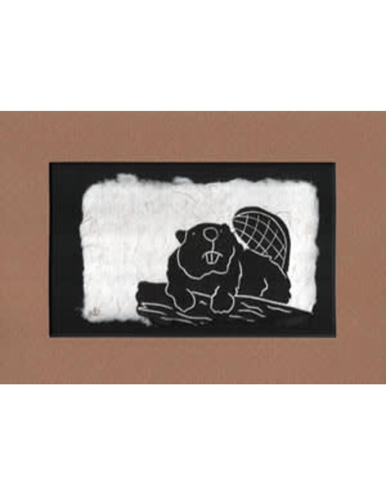 """KB's Handmade Creations Karen Beason """"Beaver"""" framed art print"""