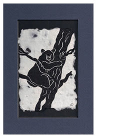KB's Handmade Creations Black Bear (framed)