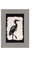 KB's Handmade Creations Blue Heron (framed) | Karen Beason