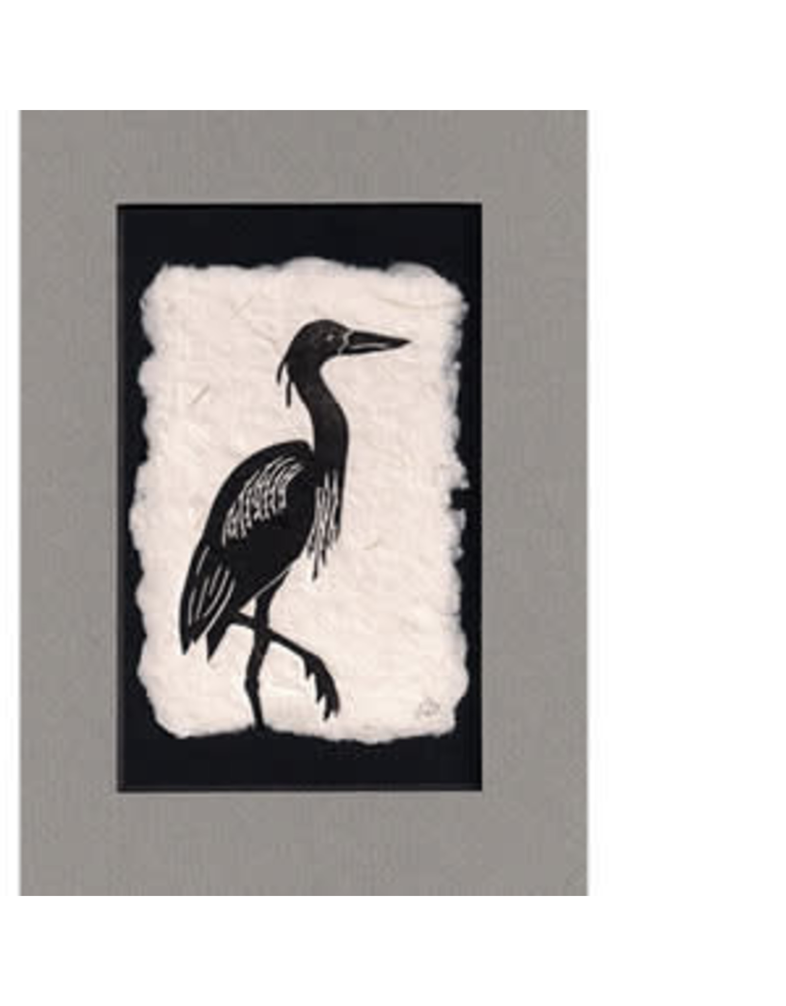 "KB's Handmade Creations Karen Beason ""Blue Heron"" framed artprint"