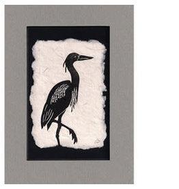 KB's Handmade Creations Blue Heron (framed)