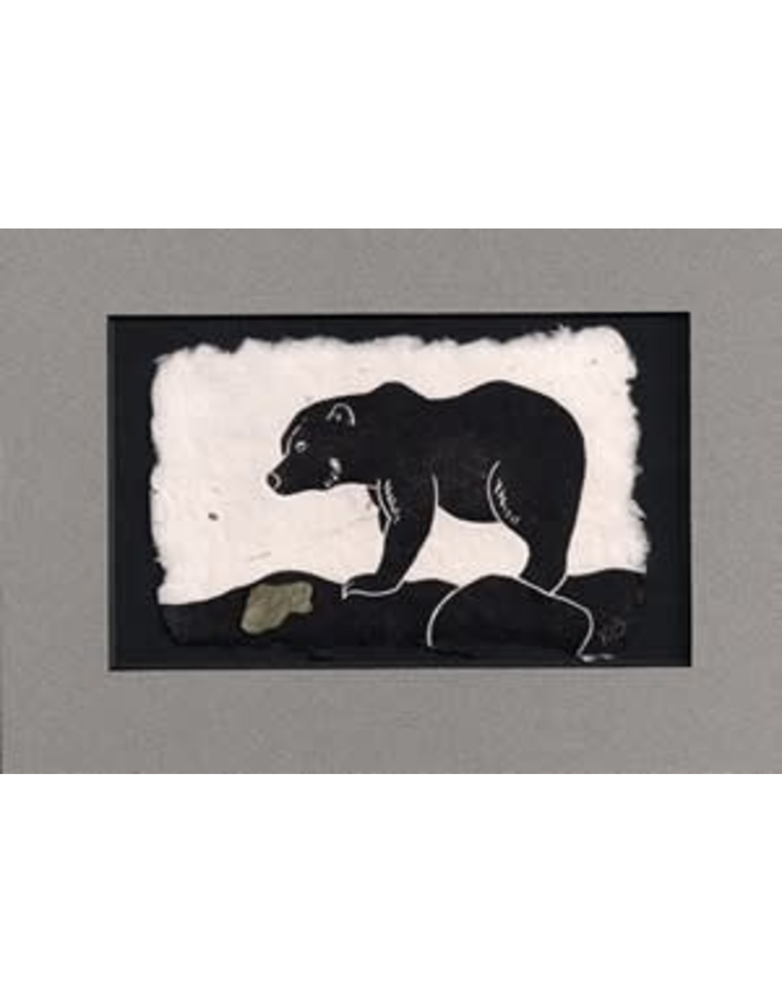 KB's Handmade Creations Brown Bear (framed) | Karen Beason