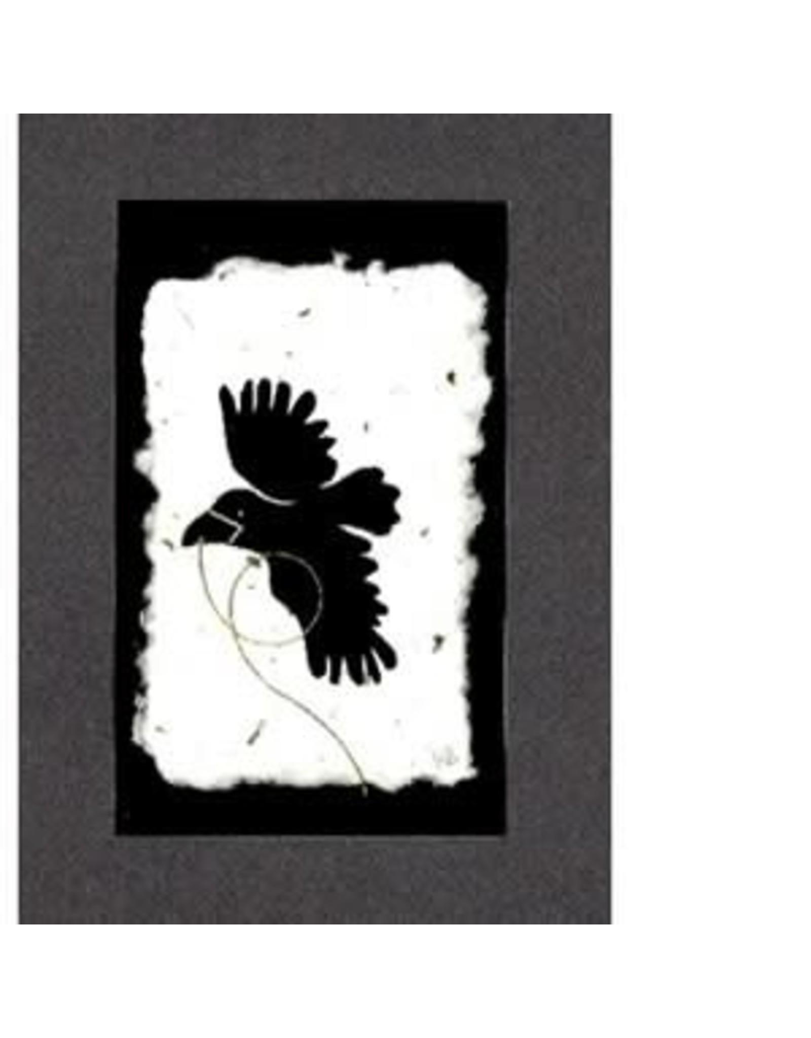 """KB's Handmade Creations Karen Beason """"Flying Raven"""" framed art print"""
