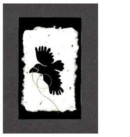 KB's Handmade Creations Flying Raven (framed)