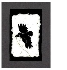 "KB's Handmade Creations Karen Beason ""Flying Raven"" framed art print"