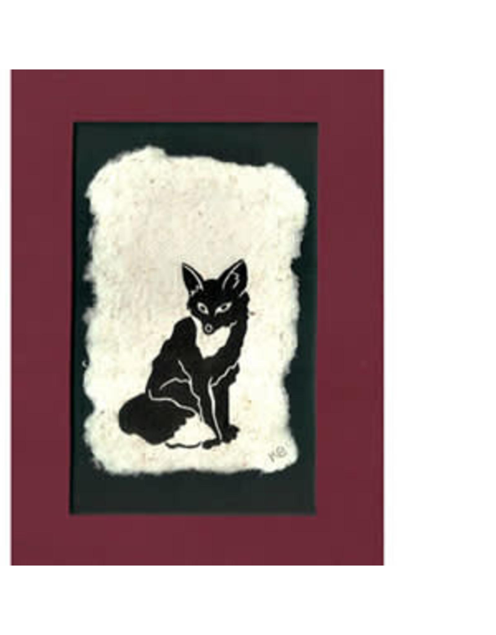 KB's Handmade Creations Red Fox (framed) | Karen Beason