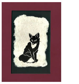 "KB's Handmade Creations Karen Beason ""Red Fox"" framed art print"