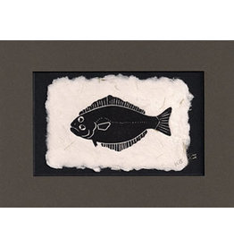 "KB's Handmade Creations Karen Beason ""Halibut"" framed art print"