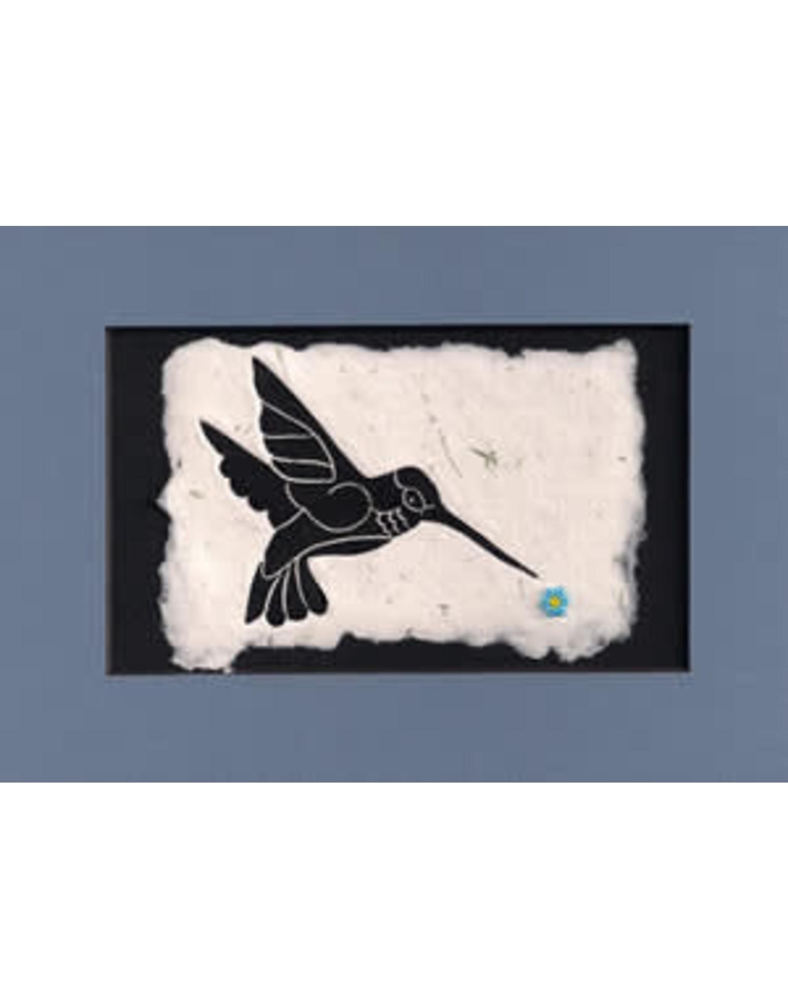 "KB's Handmade Creations Karen Beason ""Hummingbird"" framed art print"