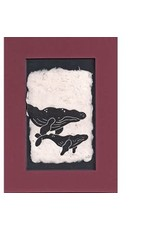 "KB's Handmade Creations Karen Beason ""Humpback Whales"" framed art print"