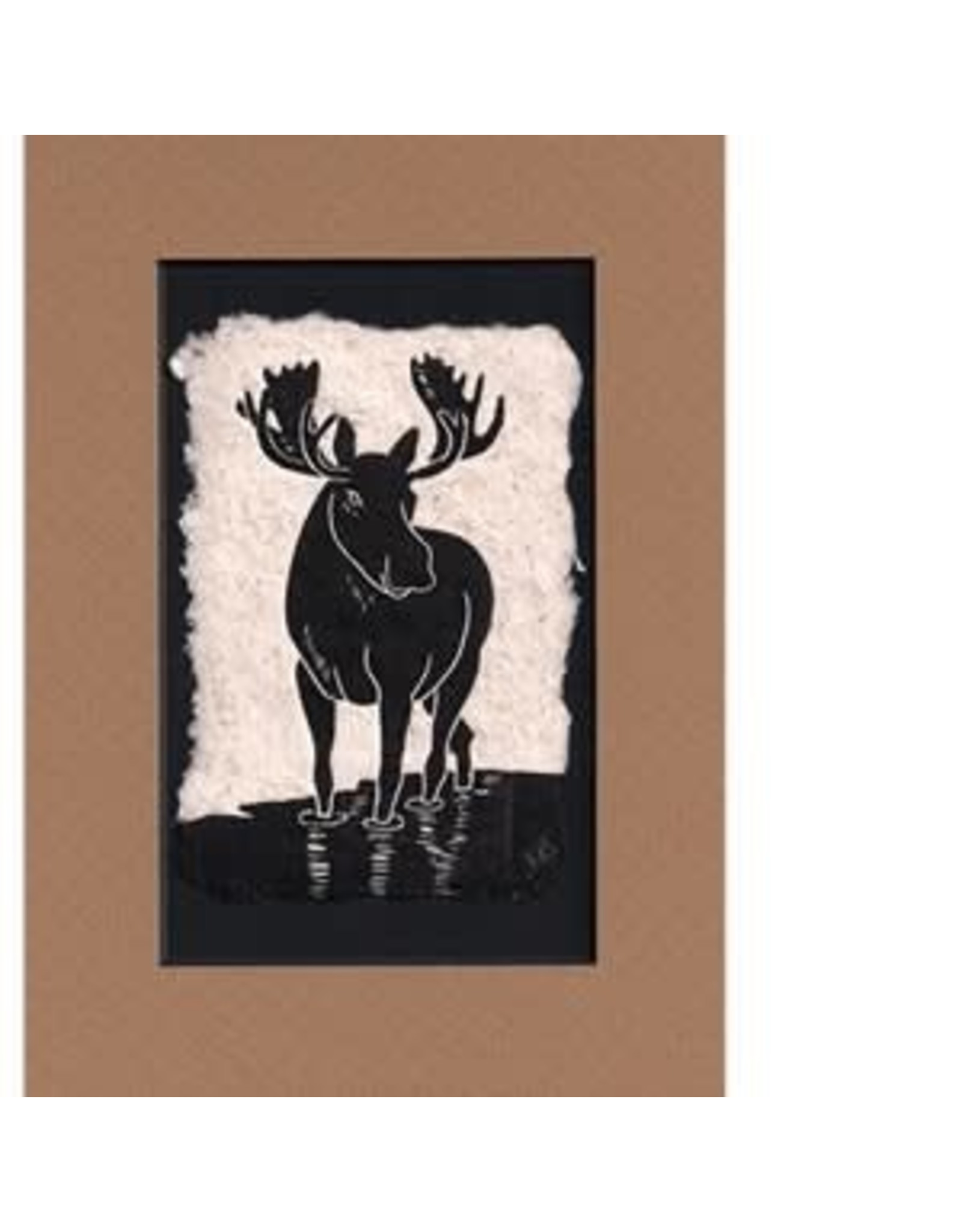 "KB's Handmade Creations Karen Beason ""Moose"" framed art print"