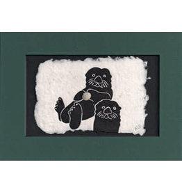 """KB's Handmade Creations Karen Beason """"Sea Otters"""" framed art print"""