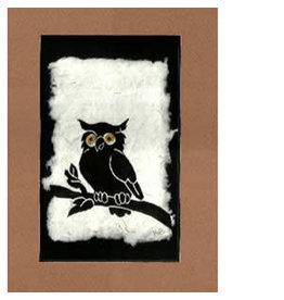 """KB's Handmade Creations Karen Beason """"Great Horned Owl"""" framed art print"""
