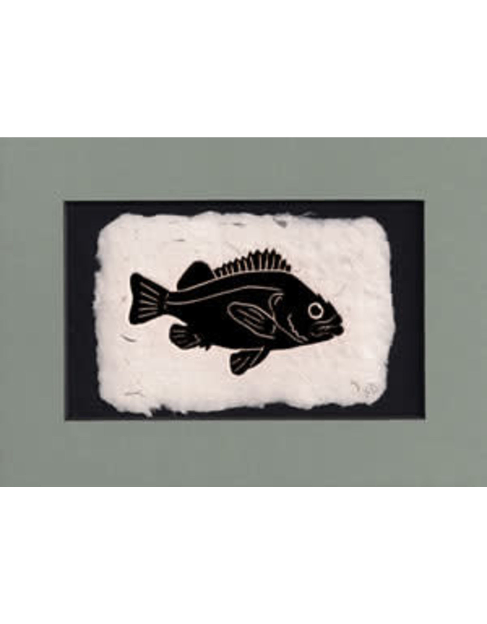 """KB's Handmade Creations Karen Beason """"Rockfish"""" framed art print"""
