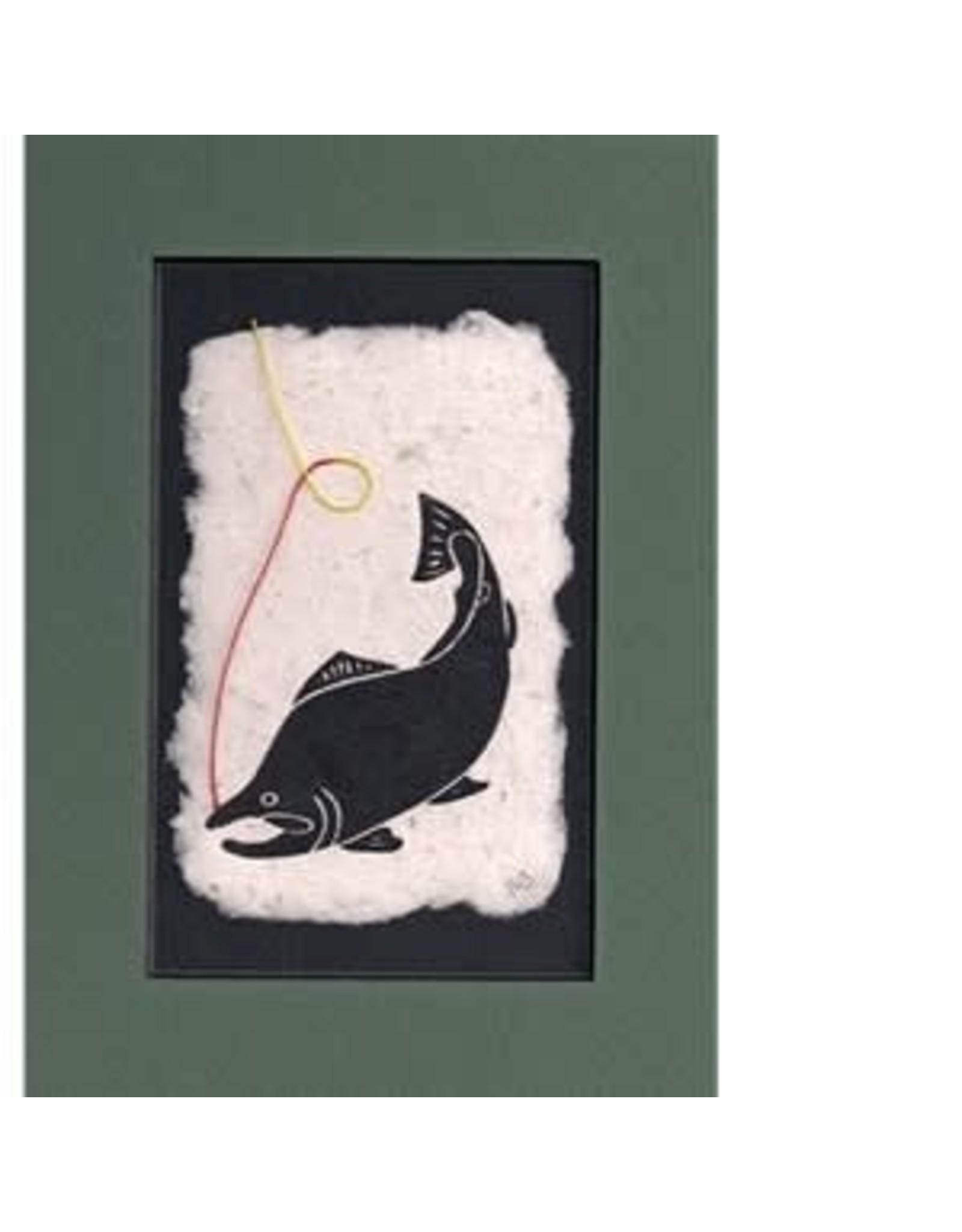 """KB's Handmade Creations Karen Beason """"Sockeye Salmon"""" framed art print"""