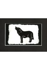 """KB's Handmade Creations Karen Beason """"Black Wolf"""" framed art print"""