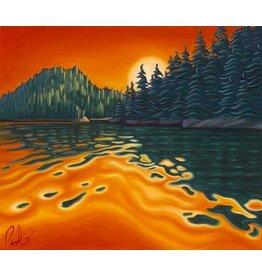 "Grant Pecoff Grant Pecoff ""Fiery Sunset in Alaska"""