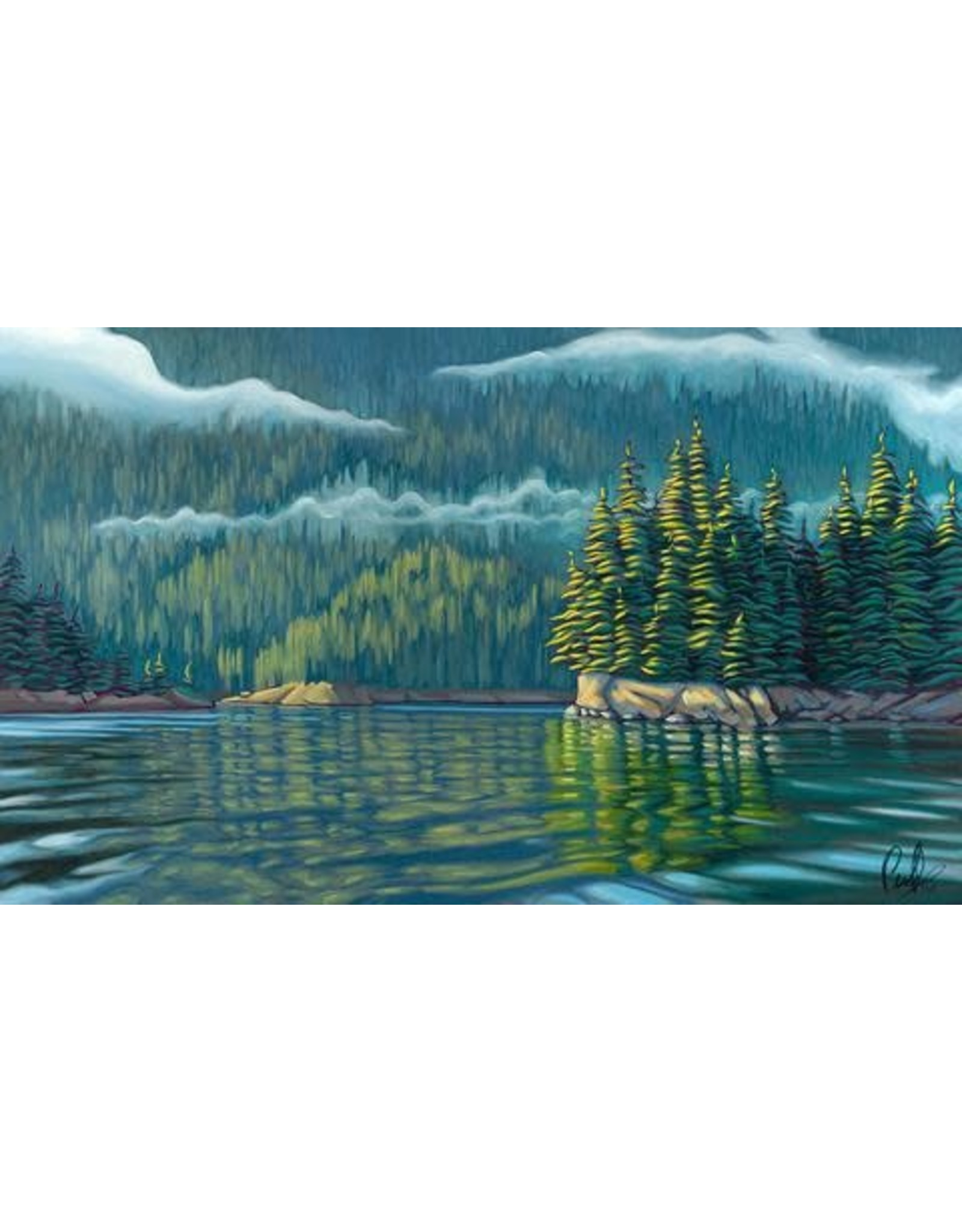 "Grant Pecoff Grant Pecoff ""Morning Mist Drifting Through the Trees"""