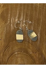 Timber & Tides Timber & Tides Earrings Grey Oval