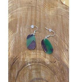 Timber & Tides Timber & Tides Earrings Green Oval