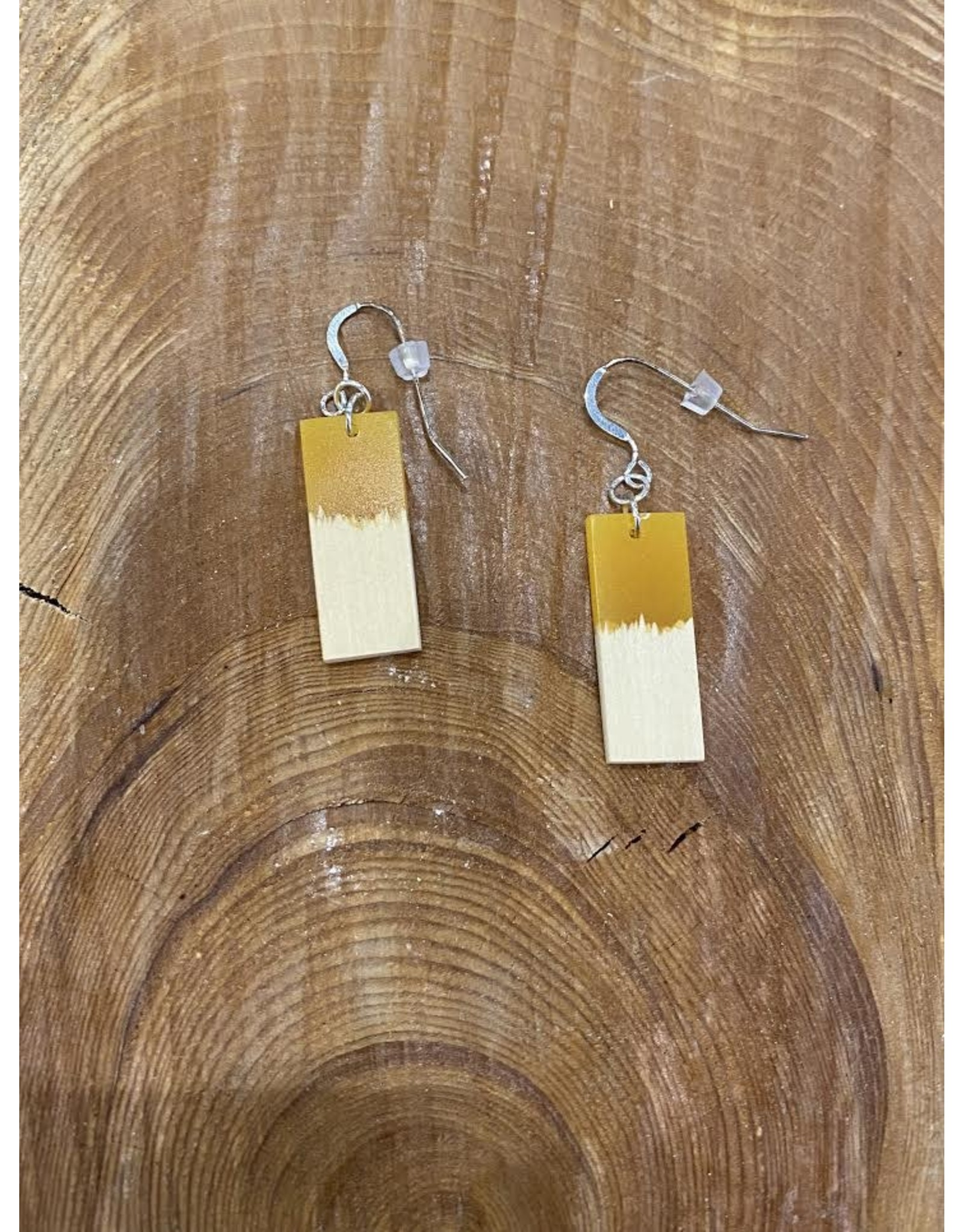 Timber & Tides Timber & Tides Earrings Orange Yellow Cedar I