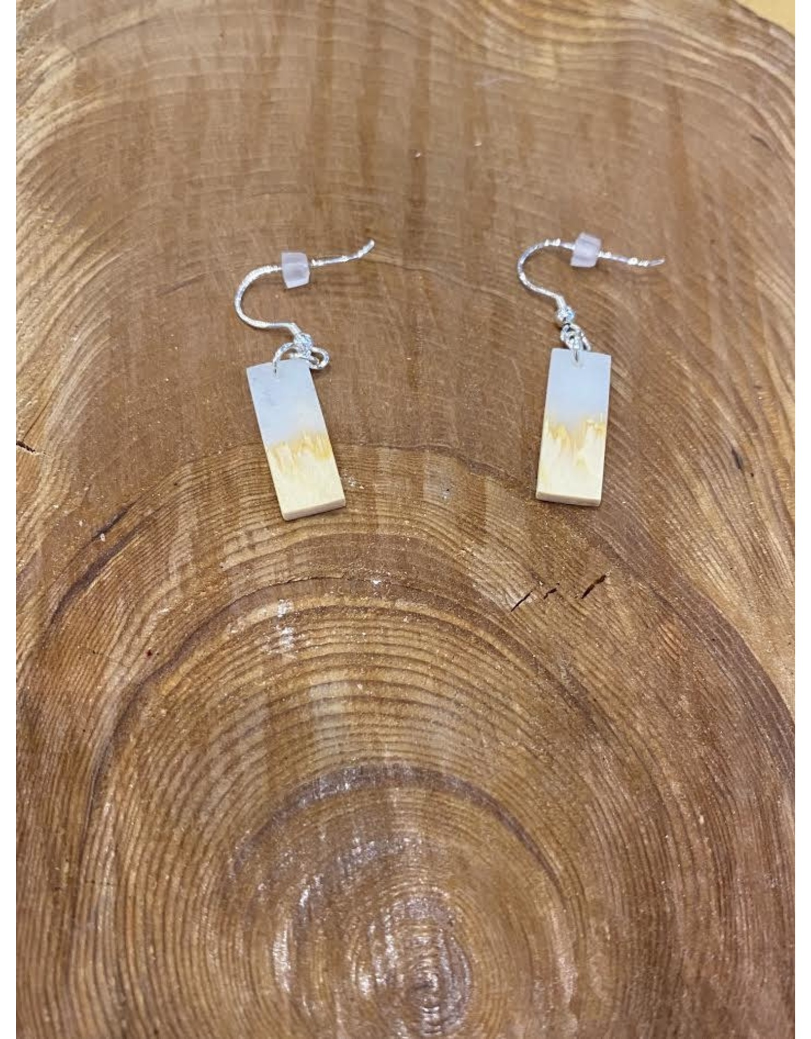 Timber and Tides Timber & Tides Earrings White Yellow Cedar II