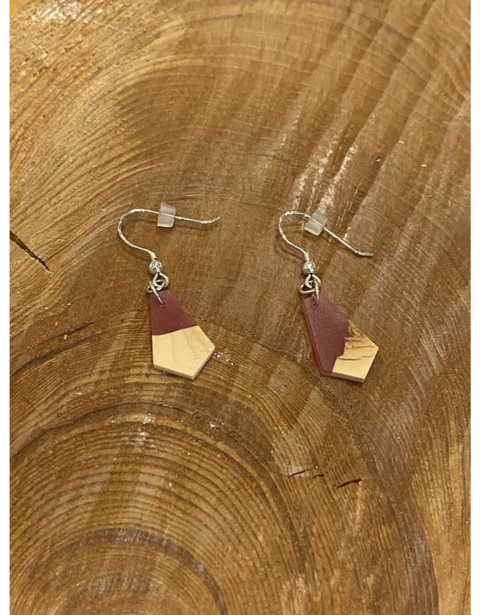 Timber & Tides Timber & Tides Earrings Red Yellow Cedar I