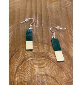 Timber & Tides Timber & Tides Earrings Dark Green Yellow Cedar I