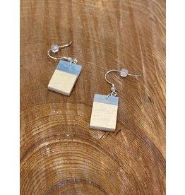 Timber & Tides Timber & Tides Earrings Light Blue Yellow Cedar