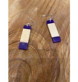 Timber & Tides Timber & Tides Earrings Purple Yellow Cedar