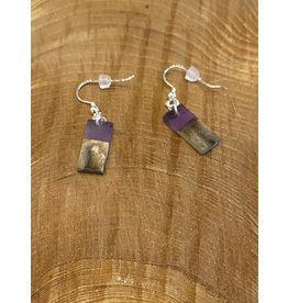 Timber & Tides Timber & Tides Earrings Purple Driftwood II