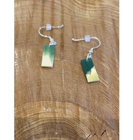 Timber & Tides Timber & Tides Earrings Green Yellow Cedar I