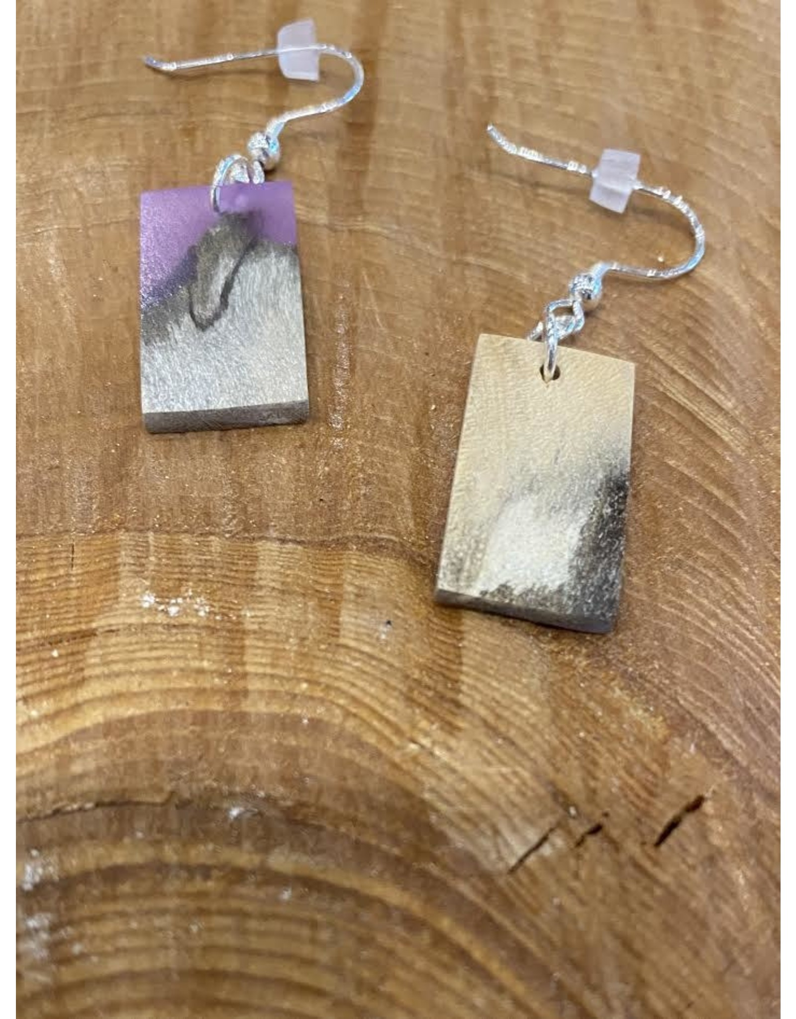 Timber and Tides Timber & Tides Earrings Purple Driftwood III