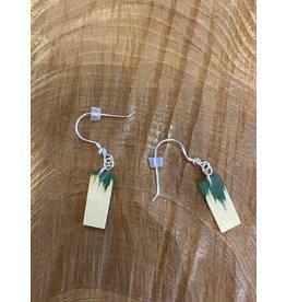 Timber & Tides Timber & Tides Earrings Green Yellow Cedar II