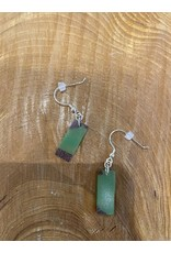 Timber & Tides Timber & Tides Earrings Green Purple Heart