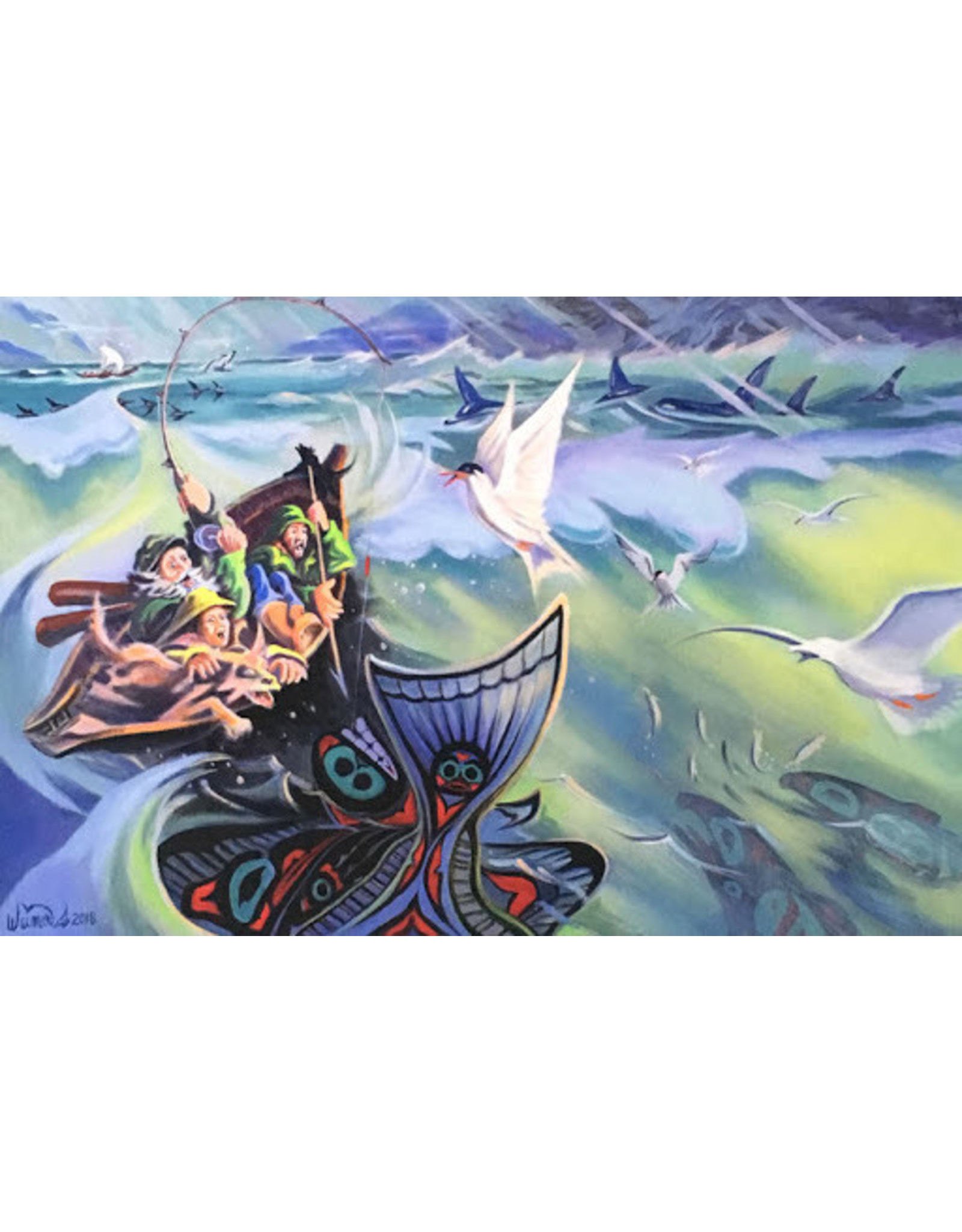 Arnie Weimer Alaskan Halibut Tail Tale | Arnie Weimer