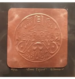 "Arnie Weimer Arnie Weimer ""Bear Legend"" Copper Square 9x9"