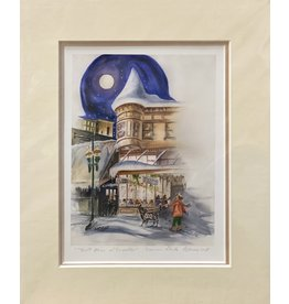"Arnie Weimer Arnie Weimer ""Full Moon on Franklin"" 8x10 Matted"