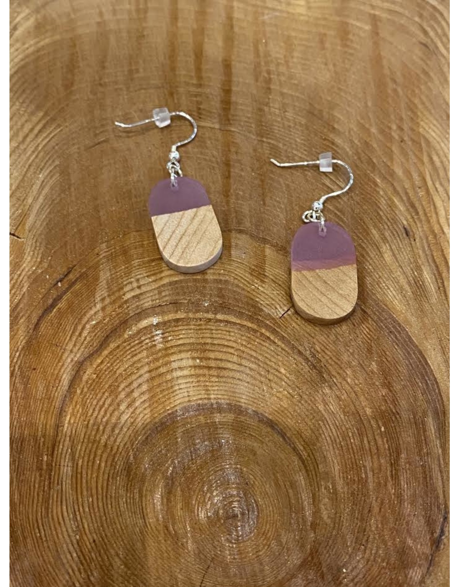 Timber & Tides Timber & Tides Earrings Pink Oval