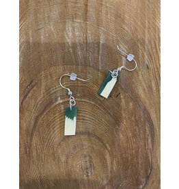 Timber & Tides Timber & Tides Earrings Dark Green Yellow Cedar II