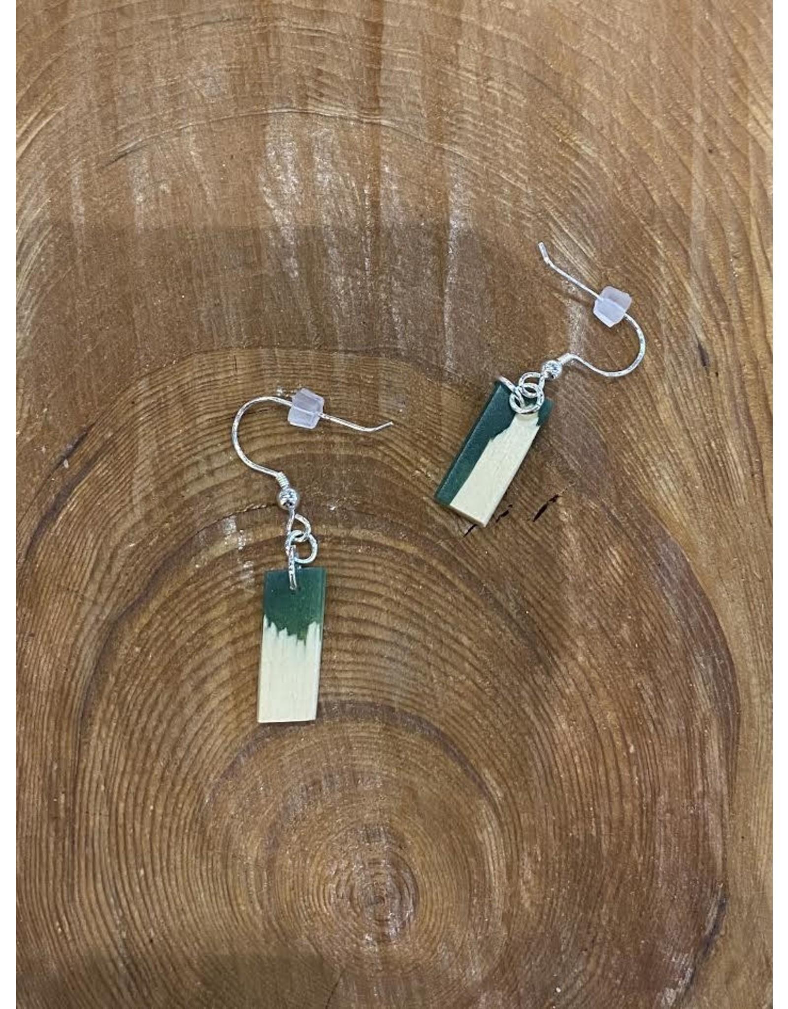 Timber & Tides Timber & Tides Earrings Dark Green Yellow Cedar II